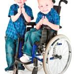 Cuando uno de los gemelos, mellizos o trillizos es discapacitado
