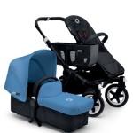 Bugaboo Donkey chasis negro color azul celeste