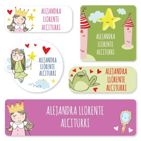 Pegatinas personalizadas impermeables princesas somos for Pegatinas pared personalizadas