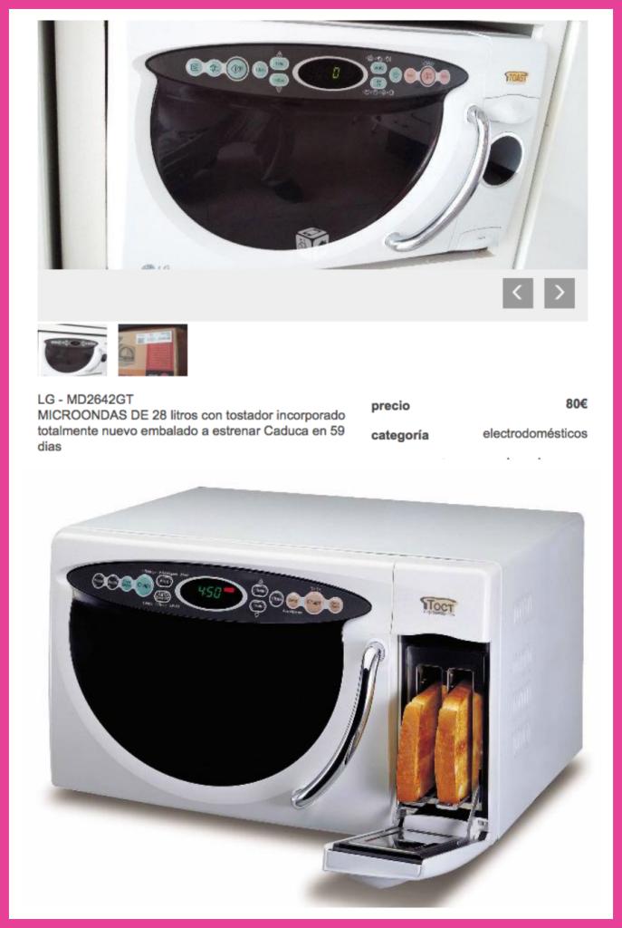 Microondas con tostadora