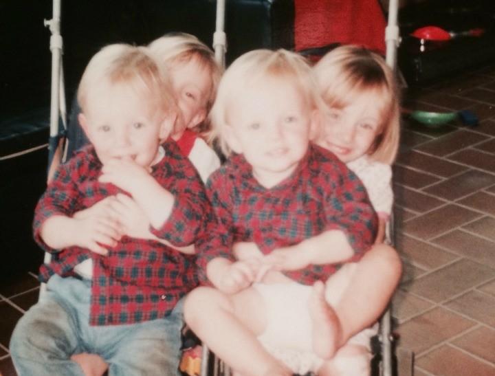 Los mellizos de Anne: Clare, Jessie, Nicholas, and Jack. Fuente: http://www.mamamia.com.au