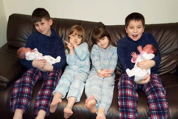 Los tres pares de gemelos de la familia Jacobs